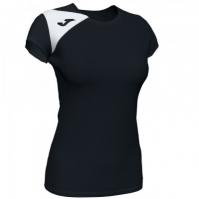Tricou Joma Spike II negru-alb cu maneca scurta