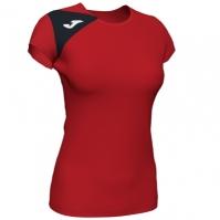 Tricou Joma Spike II rosu-negru cu maneca scurta