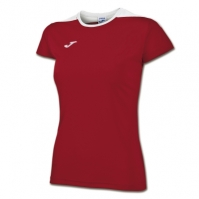 Tricouri sport Joma T- Spike rosu-alb cu maneca scurta