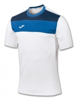 Tricou Joma sport Crew II alb-royal cu maneca scurta