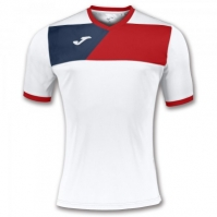 Tricou Joma sport Crew II II alb-rosu cu maneca scurta