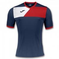 Tricou Joma sport Crew II II bleumarin-rosu cu maneca scurta