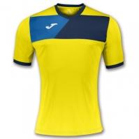 Tricou Joma sport Crew II II galben-bleumarin cu maneca scurta