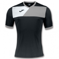 Tricou Joma sport Crew II II negru-gri cu maneca scurta