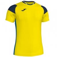 Tricou Joma sport Crew II III galben-bleumarin-royal cu maneca scurta