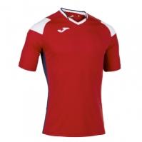 Tricou Joma sport Crew II III rosu-alb-bleumarin cu maneca scurta