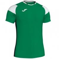 Tricou Joma sport Crew II III verde-alb-negru cu maneca scurta