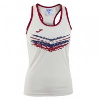 Tricou Joma Terra II alb fara maneci pentru Femei