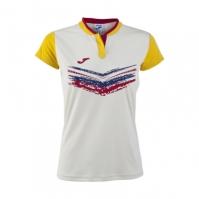 Tricou Joma Terra II alb-galben cu maneca scurta pentru Femei