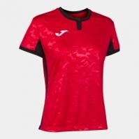 Tricou Joma Toletum II rosu-negru cu maneca scurta