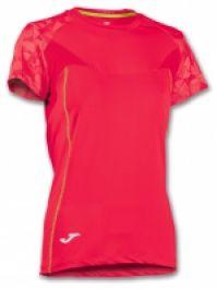Tricouri sport Joma T- Venus rosu cu maneca scurta
