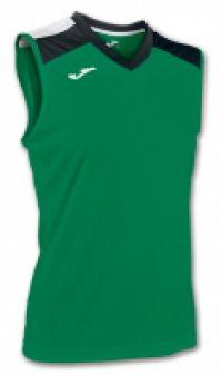 Tricou volei Joma verde-negru fara maneci W