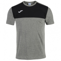 Tricouri Joma T- Winner bumbac Melange Medium-negru cu maneca scurta