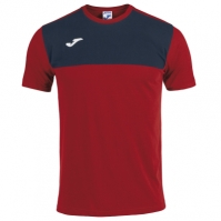 Tricouri Joma T- Winner bumbac rosu-bleumarin cu maneca scurta