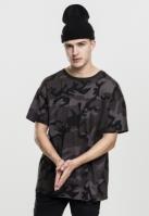 Tricou larg Camo inchis-camuflaj Urban Classics
