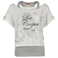 Tricou Lee Cooper cu 2 straturi pentru Femei