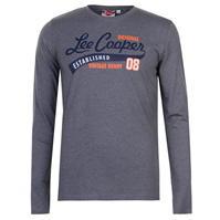Tricou Lee Cooper cu Maneca Lunga Vintage Motif pentru Barbati