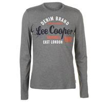Tricou Lee Cooper cu Maneca Lunga Vintage pentru Barbati