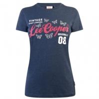 Tricou Lee Cooper cu imprimeu mare Print pentru Femei