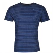 Tricou Lee Cooper Textured cu imprimeu cu decolteu in V pentru Barbati