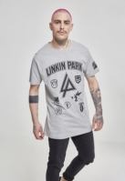 Tricou Linkin Park Patches deschis-gri Merchcode
