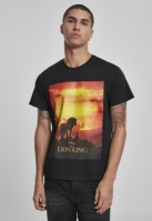 Tricou Lion King Sunset negru Merchcode