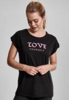 Tricou Love Yourself pentru Femei negru Mister Tee