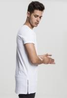 Tricou lung cu fermoar lateral alb Urban Classics