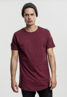 Tricou lung Shaped Melange cherry Urban Classics