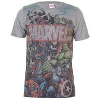 Tricou Marvel AOP pentru Barbati cu personaje