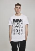 Tricou Marvel Crew alb Merchcode