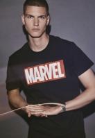 Tricou Marvel Logo negru Merchcode