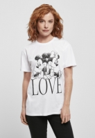 Mergi la Tricou Minnie Loves Mickey pentru Femei alb Merchcode