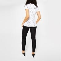 Tricou Miso Printed Boyfriend pentru Femei alb inima