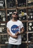 Tricou NASA alb Mister Tee