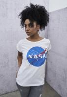 NASA Insignia Tee pentru Femei alb Mister Tee