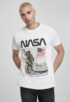 Tricou NASA Moon Man alb Mister Tee