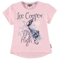 Lee Cooper Fashion Logo Tee pentru fetite