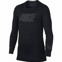 Tricou Nike B Np maneca lunga compresie negru 858232 010 pentru copii