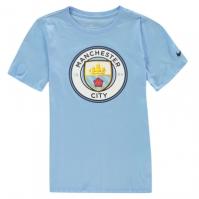 Tricou Nike Manchester City Crest 2018 2019 pentru copii
