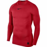 Tricou Nike Pro Top compresie maneca lunga rosu 838077 657 pentru barbati