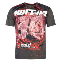 Tricou No Fear cu imprimeu Moto pentru Barbati