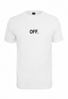 Tricou OFF EMB alb Mister Tee
