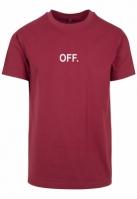 Tricou OFF EMB rosu burgundy Mister Tee