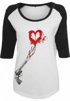 Tricou Pistol Heart pentru Femei alb-negru Mister Tee