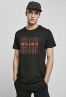 Tricou Pizza Power negru Mister Tee