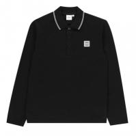 Tricou Polo cu Maneca Lunga Boss Badge negru 09b