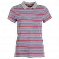 Tricouri polo Lee Cooper All Over cu dungi pentru Femei