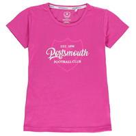 Tricou Team Portsmouth Crest Print pentru fetite