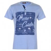 Tricou Pierre Cardin Print Y Neck pentru Barbati